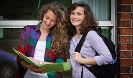 微笑的学生 库存图片