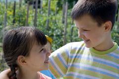 微笑的孩子 免版税库存照片