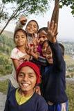 微笑的尼泊尔孩子 免版税库存图片