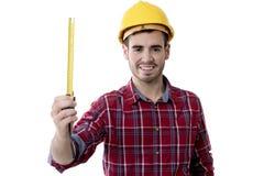 微笑的建设者人 免版税库存照片