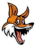 微笑的快乐的狐狸 免版税库存照片