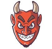 微笑的恶魔面孔 向量例证