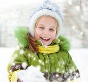 女孩冬天假期 库存图片