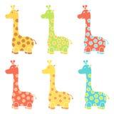 微笑的愉快的长颈鹿象 免版税库存图片
