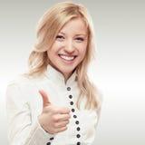 微笑的新女商人 免版税库存照片