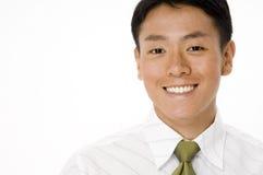 微笑的新生意人 免版税库存照片
