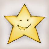 微笑的星形 皇族释放例证