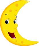 微笑的月亮动画片 库存图片