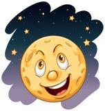 微笑的月亮 免版税库存图片