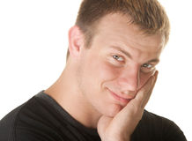 微笑的欧洲人 免版税库存图片