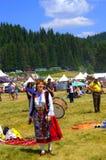 微笑的歌手妇女Rozhen保加利亚 库存照片