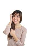 微笑的混杂的亚裔女孩 免版税图库摄影