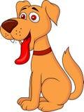 微笑的狗动画片 免版税图库摄影