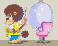 狮子是美发师和美发师 免版税库存照片