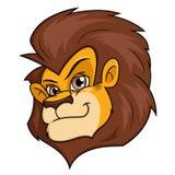 微笑的狮子头 库存图片