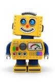 微笑的玩具机器人 免版税库存照片