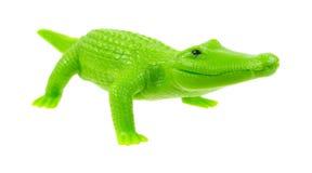 微笑的玩具鳄鱼 库存照片