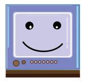 微笑的电视 免版税库存照片