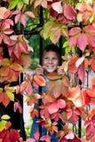 微笑的男孩 图库摄影