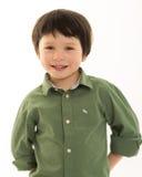 微笑的男孩 免版税图库摄影
