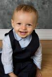 微笑的男婴 图库摄影