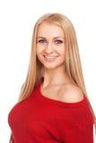 微笑的白肤金发的妇女 免版税图库摄影