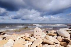 微笑的石头 库存图片