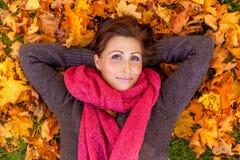 微笑的秋天秋天 库存照片