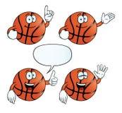 微笑的篮球集合 向量例证