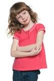 微笑的红发女孩 免版税图库摄影