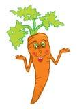 微笑的红萝卜 库存照片