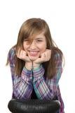 微笑的美丽的十几岁的女孩 库存照片