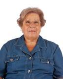 微笑的老妇人画象  库存图片