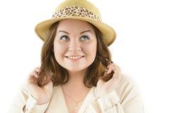 微笑的肥胖妇女 库存图片