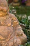 微笑的菩萨小雕象 图库摄影