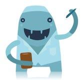 微笑的蓝色医生Monster 库存例证