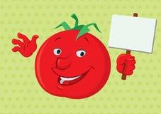 微笑的蕃茄 库存照片
