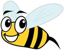 微笑的蜂和外形 免版税图库摄影