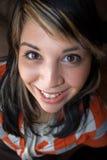 微笑的西班牙妇女年轻人 库存照片