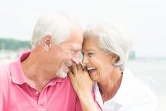 微笑的资深夫妇 免版税库存照片