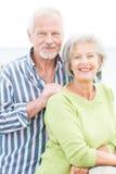 微笑的资深夫妇 免版税库存图片
