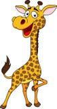 微笑的长颈鹿动画片 免版税库存照片