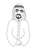 微笑的阿拉伯人的画象 免版税图库摄影