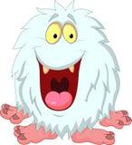 微笑的雪人动画片 库存图片