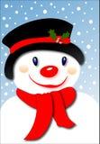 微笑的雪人 免版税库存图片