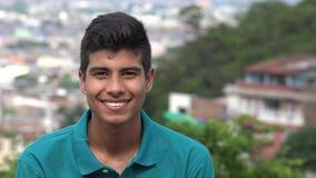 微笑的青少年的西班牙男孩 库存图片