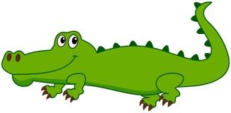 微笑的鳄鱼和外形 免版税库存图片