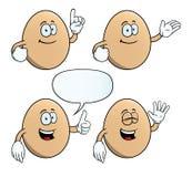 微笑的蛋集合 向量例证