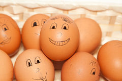 微笑的鸡蛋 免版税图库摄影
