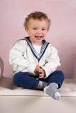 微笑的维多利亚女王时代的男孩 免版税库存照片